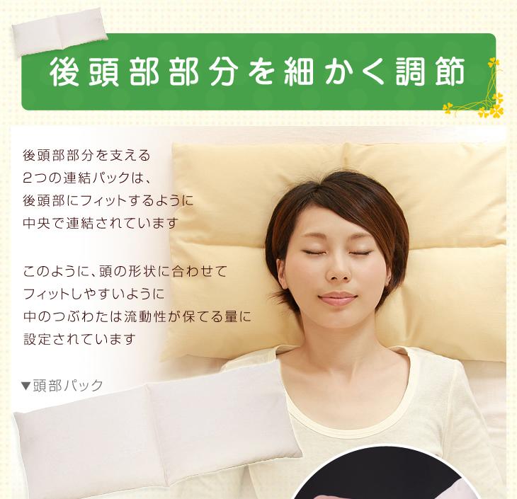 リビングインピースのセミオーダー枕、セルフィット枕はご自由に高さを調整できます