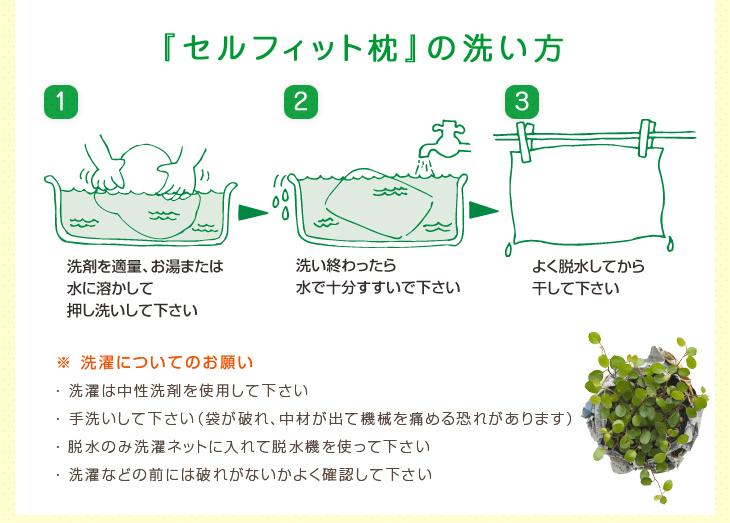 オーダー枕の入門編、リビングインピースのセルフィット枕(つぶわた)の洗い方