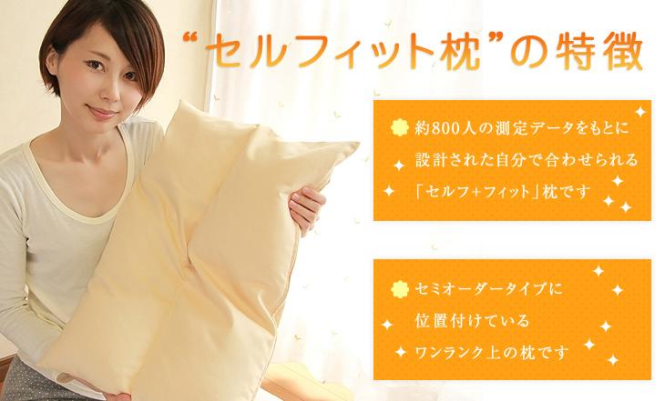 オーダー枕の入門編、リビングインピースのセルフィット枕(つぶわた)の特徴