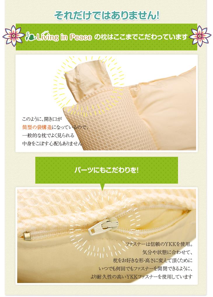 リビングインピースのストレートネック対応ネックフィット枕のこだわり