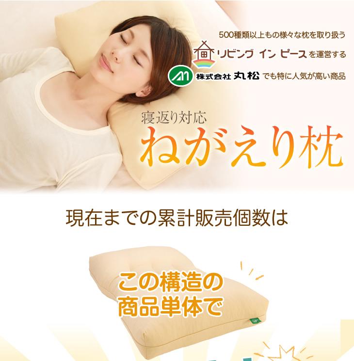リビングインピースのねがえり枕の累計販売個数は約36000個以上