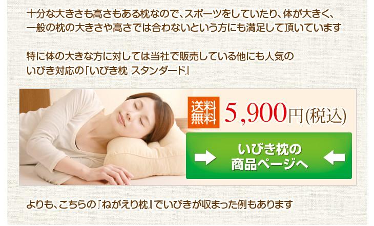 リビングインピースの寝返り対応ねがえり枕の使用でいびきが収まった例もあります