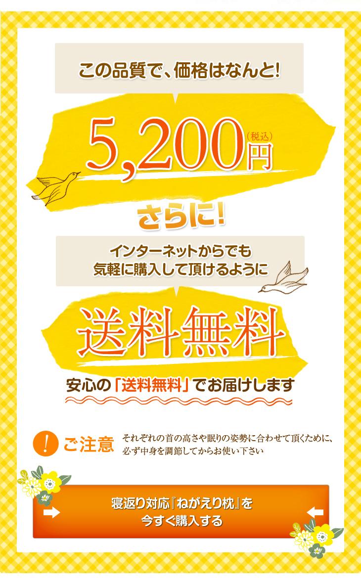 リビングインピースの寝返り対応ねがえり枕はこの品質で価格は5040円、さらに送料無料でお届け