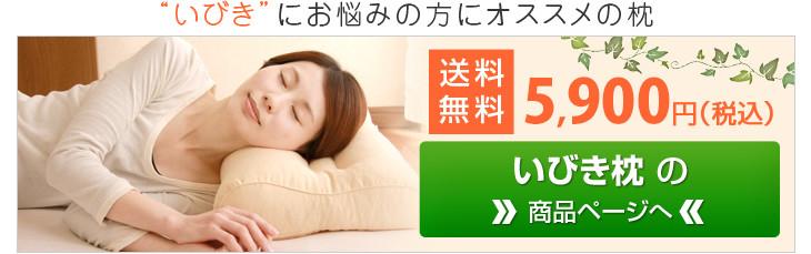 いびきを軽減する構造のいびき枕