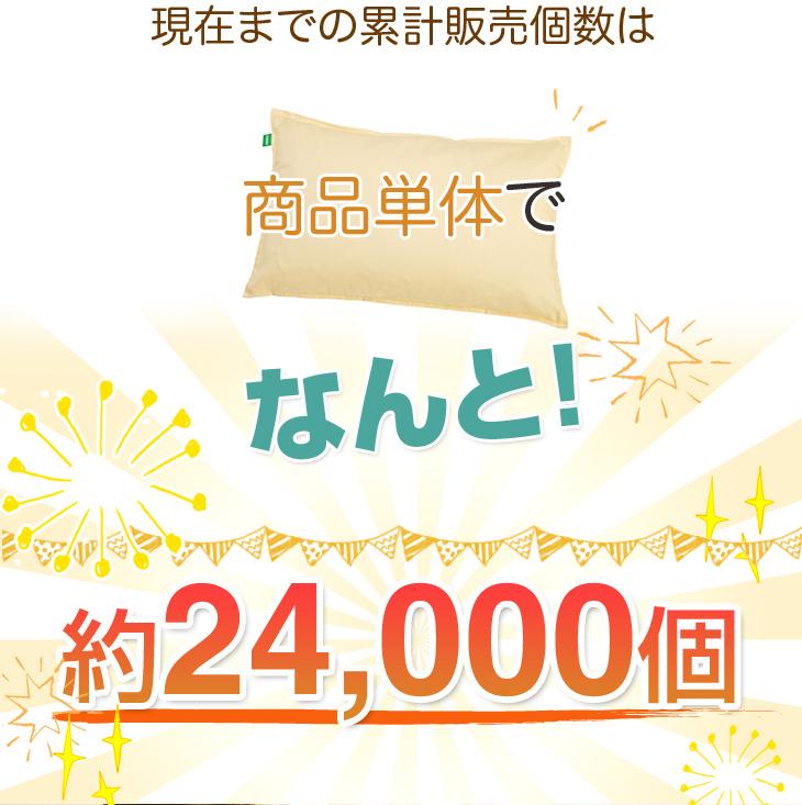 リビングインピースの洗えるそば枕故郷のねむりの累計販売数は24000個