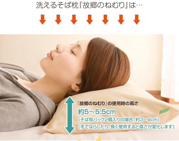 リビングインピースの洗えるそば枕故郷のねむりの快眠サポート