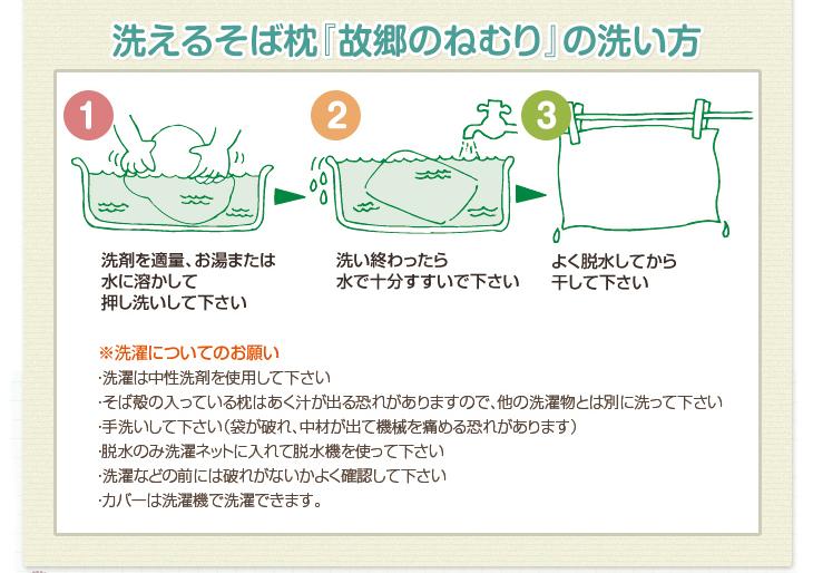 リビングインピースの洗えるそば枕故郷のねむりの洗い方
