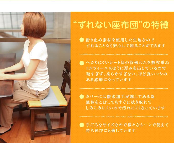 リビングインピースのすべらない座布団の特徴
